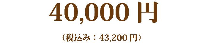 40,000円(税込み: 43,200円)